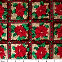 Patchworkstoff Quilt Weihnachts-Stern-Stoff