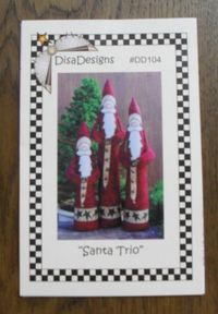 Anleitung `Santa Trio` 3 Santas