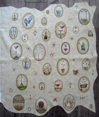 Gundis Garden Quilt Block 10 Materialpackung mit Panel und Anleitung