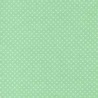 Patchworkstoff grün mit weißen Punkten