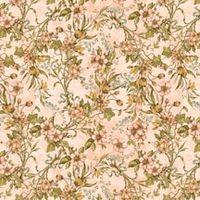 Patchworkstoff Quilt Stoff A Ladies' Diary Vintage Rosen Blumen auf rosa