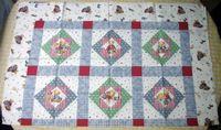 Patchworkstoff Quilt Stoff Blue Jean Teddy 4719 Cheater 90cm x 110cm