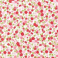 Patchworkstoff Strawberry Tea Party Blooms Kleine Blumen