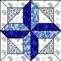 Quilt Block Februar 12,5 inch Quadrat WHITE CROSS