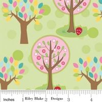 Patchworkstoff Riley Blake Hoos in the forest by Doohikey Designs Green
