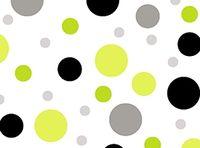 Patchworkstoff Contempo Dots kleine Punkte grün schwarz auf weiss
