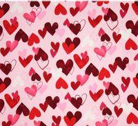 Patchworkstoff Quilt Herzen