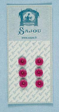 AUSLAUFMODELL Kl. pink rosa Knöpfe m. ornamentalem Rand 6 Stk. d=11mm
