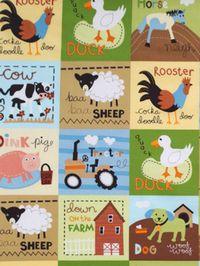Patchworkstoff Quiltstoff Panelstoff *At The Farm* Bauernhof Farmtiere RK13021-169
