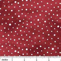 Patchworkstoff Quilt Winter Schneeflocken auf rot, 45x110cm