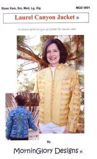 Nähanleitung Laurel Canyon Jacket Patchwork Anleitung Xsm-Xlg