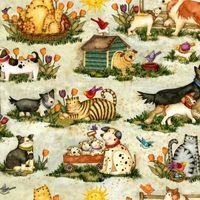 Patchworkstoff Quilt Stoff Pals at play Beistoff