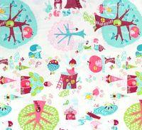 Patchworkstoff Quilt Stoff *Fairyville* von Heather Rosas Waldtiere