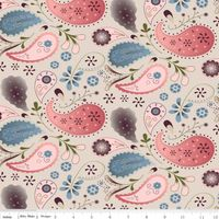 Patchworkstoff Riley Blake Paisleys rosa