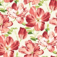 Patchworkstoff Stoff Quilt Splendor Coral Bliss Blumen Tulpen