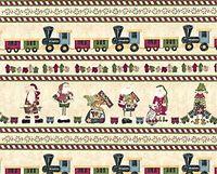 Patchwork Quilt Border Stoff Weihnachten beige