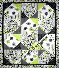 Materialpackung `Fantasia` mit Nähanleitung in dt. grün / schwarz 1,55x1,98cm