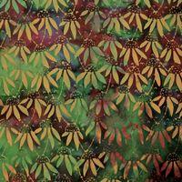 Patchworkstoff Quilt Stoff Bali Batik Lily Kiwi