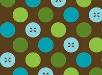 Patchworkstoff Stoff Quilt von Sparky and Marie in modernem Design Punkte Knöpfe auf braun
