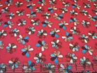 Patchworkstoff Quilt Stoff Quilting Treasures Song of Joy  Blumen - rot