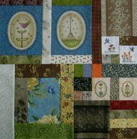 Gundis Garden Quilt Block 3 Materialpackung mit Anleitung