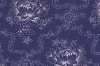 Patchworkstoff Westfalen `Froh erwache` blau Blumen 150cm