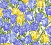 Patchworkstoff Stoff Quilt Morning Mist Tulpen RESTSTÜCK