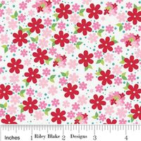 Patchworkstoff Riley Blake Hoos in the forest Doohikey Designs Floral In Pink Blumen