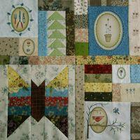 Gundis Garden Quilt Block 2 Materialpackung mit Anleitung