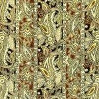 Patchworkstoff mit Streifen und Paisleys, 30x112cm