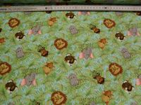 Patchworkstoff Stoff Quilt Jungle Babies, Flanell 30x110cm