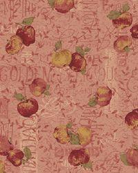 Herbst Stoff Äpfel auf altrosa REST 0,84m