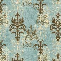 Patchworkstoff, Windflower by Daphne B, Antique blue keltisch Kreuz blau