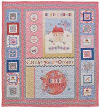 Kostenlose Nähanleitung Quilt Life is Beautiful by Helen Stubbings; Red Rooster
