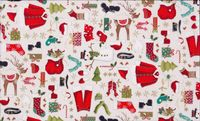 Patchworkstoff Quilt Stoff Makower Vintage Christmas 2013 Novelty Clothes