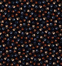 Katzen Pfoten Stoff schwarz 50cm x 110cm Hund
