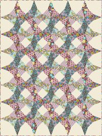 Kostenlose Nähanleitung Kaleidoscope; von Sharon Holland für Paintbrush Studio; Fabri-Quilt