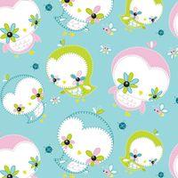 Patchworkstoff Quilt Stoff Dream a little Dream Birds Vögelchen in pastell