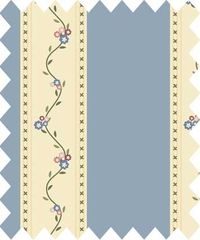 Patchworkstoff Quilt Stoff Véros World Country Chic Cottage Streifen beige mit blau 145cm