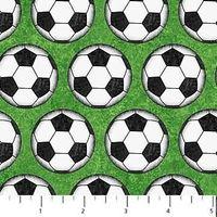 Patchworkstoff Quilt Stoff Kids Soccer Fussball