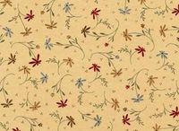 Patchworkstoff Stoff Quilt Simply Imagine by Whimsicals Blumenranken creme rot grün weiß W4429-23062C