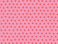 Patchworkstoff Westfalen Serie Junge Linie; pink Herzen auf rosa 150cm