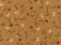 Patchworkstoff Stoff Quilt Simply Imagine Blumenranken braun grün gelb W4429-23062B