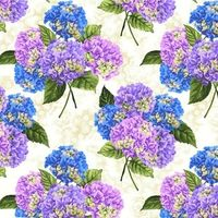 Stoff Patchworkstoff Quilt grosse Hortensien Budding Beauties 30x110 cm