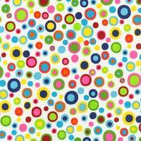 Patchworkstoff mit Punkten, Candy Corner Bunt