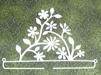 Dekobügel *Blütenzweig* 21 cm creme/weiss