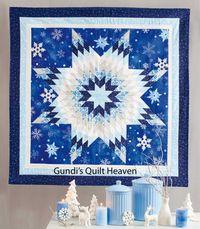 Materialpackung Wandquilt `Snow Star` ca. 101x101cm, Materialpackung, Stoffpaket m. Nähanleitung!