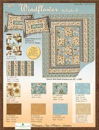 Kostenlose Nähanleitung Quilt `Windflower in blau` von Daphne B.
