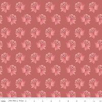 Patchworkstoff Riley Blake rosa Blumen auf aprikot-alt rosa