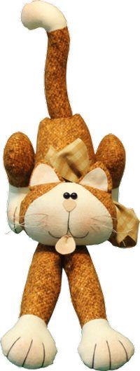 Materialpackung `Crazy Cat Ginger` Katze Kit